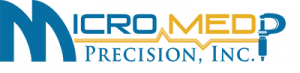 Micro Med Precision Logo in blue and yellow