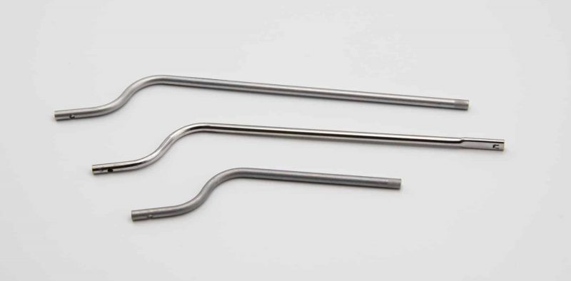 Three long tubes with bending